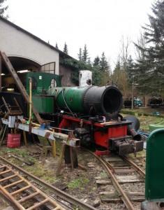 1-Demontage der Lok-Dampflok-Krauss-Werners Gartenbahn