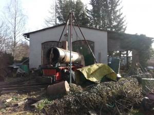 3-Demontage-der-Lok-Dampflok-Krauss-Werners Gartenbahn