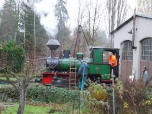 32-Warmdruckprobe-Dampflok-Krauss-Werners Gartenbahn