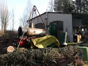 4-Demontage der Lok-Dampflok-Krauss-Werners Gartenbahn