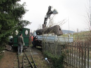 7-Verladung-des-Kessels-Dampflok-Krauss-Werners Gartenbahn